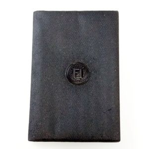 Vintage Fendi Black Address Book- New without tags